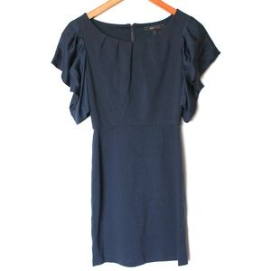 BCBGMaxazria Shirred Sleeve Ponte Dress 0